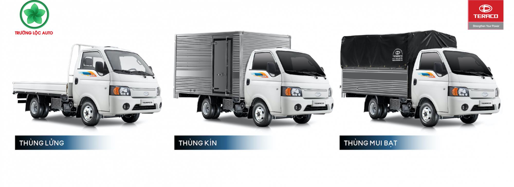 Các phiên bản thùng Xe tải Tera 180