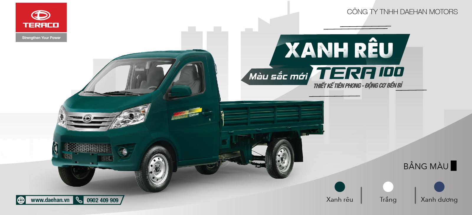 tera-100-990kg Tera 100 990kg Vua của dòng xe tải dưới 1 tấn