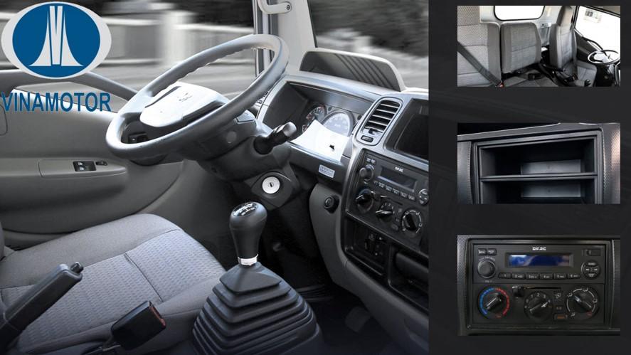 nội thất xe tải 3,5 tấn vn350