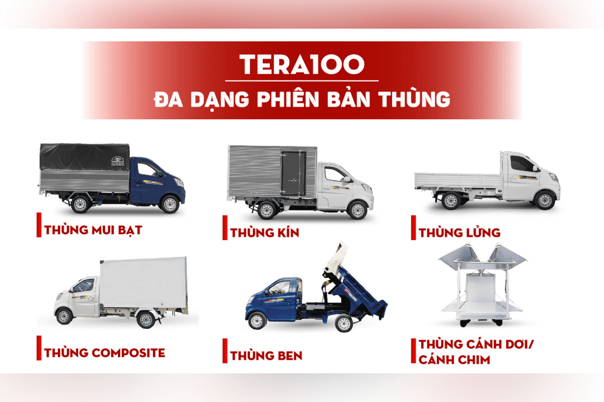 tera 100 thùng xe tải